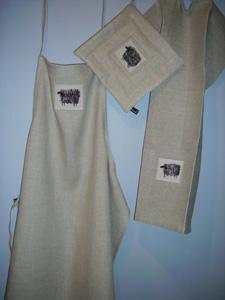 Förkläden, grytlappar och handdukar i linne